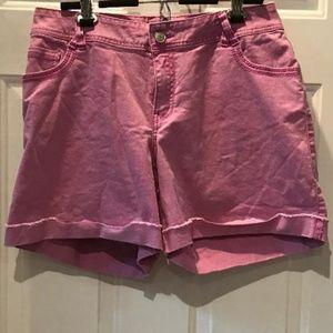 Lane Bryant Pink Cuffed Jean Shorts Size 20